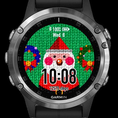 Watch faces voor Kerst op Garmin smartwatch.